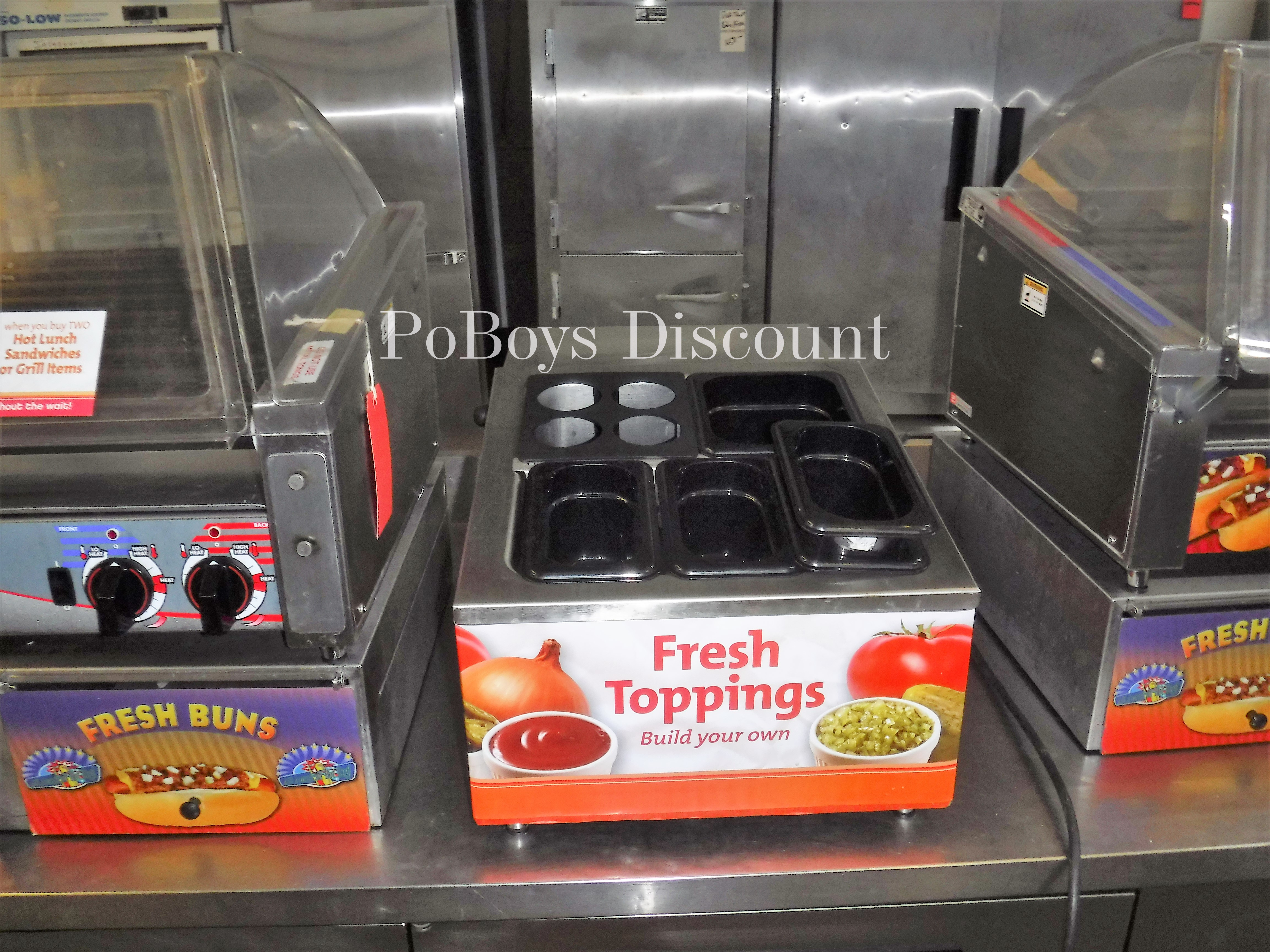 RTR-4 Countertop Refrigerated Condiment Topping Salad Bar Rail ...